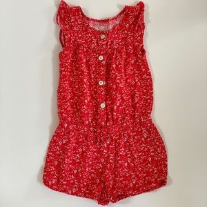 Genuine Kids Toddler Girl Flutter Sleeve Romper